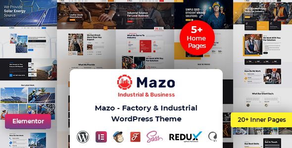 [Free Download] Mazo – Industry WordPress Theme (Nulled) [Latest Version]