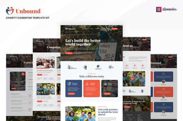 [Free Download] Unbound – Charity & Nonprofit Elementor Template Kit (Nulled) [Latest Version]