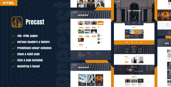 [Free Download] Precast – industrial HTML template (Nulled) [Latest Version]