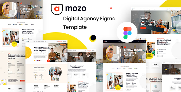 [Free Download] Amozo – Digital Agency Figma Template (Nulled) [Latest Version]
