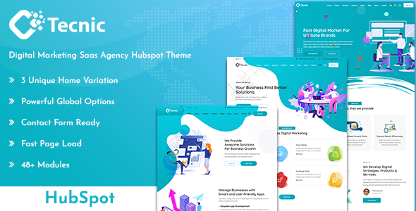 [Free Download] Tecnic – Digital Marketing Hubspot Theme (Nulled) [Latest Version]