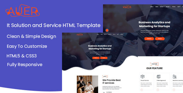 [Free Download] Auer – Creative & It Solution HTML Template (Nulled) [Latest Version]