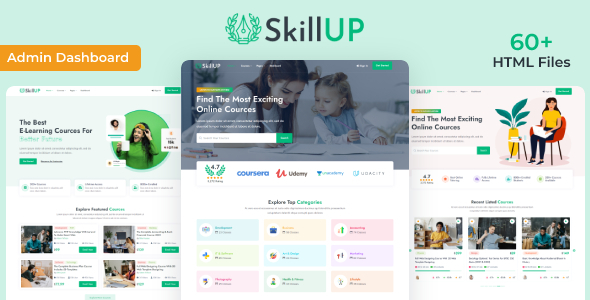 [Free Download] SkillUp   Online Education HTML Template (Nulled) [Latest Version]