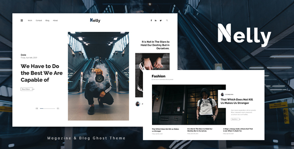 [Free Download] Nelly – Blog and Magazine Ghost Theme (Nulled) [Latest Version]