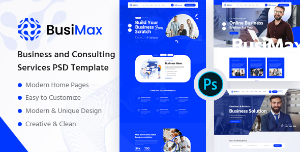 [Free Download] BusiMax – Business and Consulting Services PSD Template (Nulled) [Latest Version]