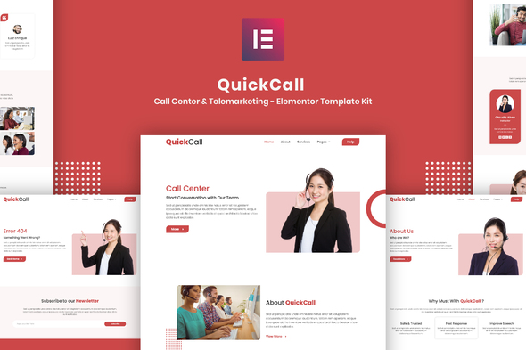 [Free Download] Quick Call – Call Center Elementor Template Kit (Nulled) [Latest Version]
