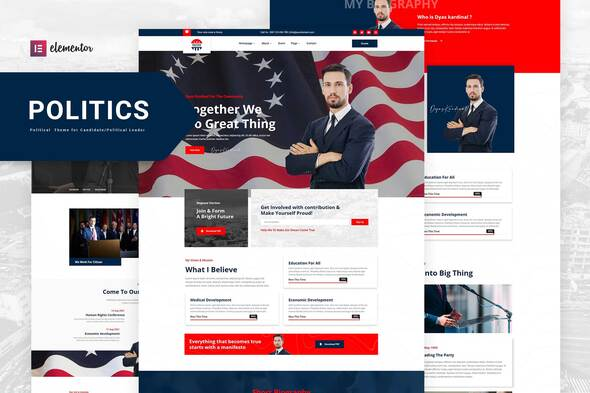 [Free Download] Politics – Political Candidate Leader Elementor Template Kit (Nulled) [Latest Version]
