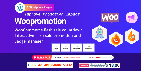 [Free Download] Woopromotion – WooCommerce product promotion sale countdown and Badge Manager (Nulled) [Latest Version]