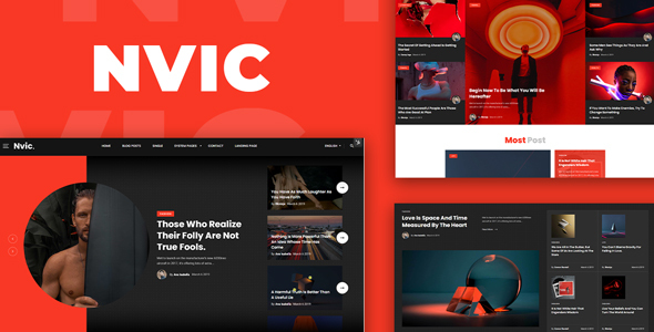 [Free Download] Nvic – Blog and Magazine HTML Template (Nulled) [Latest Version]