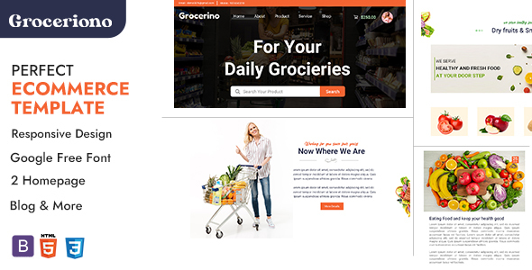 [Free Download] Grocerino – Online Grocery & Retail Store HTML Template (Nulled) [Latest Version]