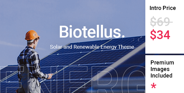 [Free Download] Biotellus – Solar and Renewable Energy Theme (Nulled) [Latest Version]