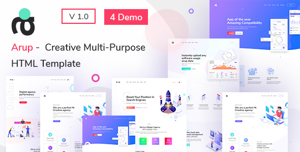 [Free Download] Arup – Creative Multipurpose  HTML Template (Nulled) [Latest Version]