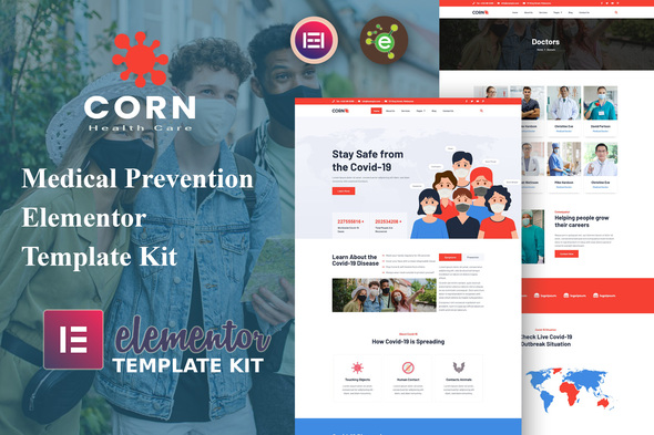 [Free Download] Corn – Medical Prevention Elementor Template Kit (Nulled) [Latest Version]