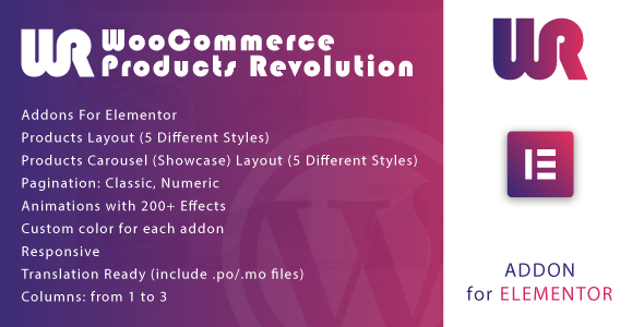 [Free Download] WooCommerce Products Revolution for Elementor WordPress Plugin (Nulled) [Latest Version]