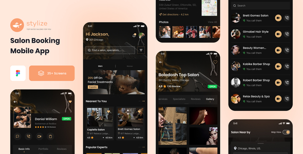 [Free Download] Stylize – Barber & Salon App (Nulled) [Latest Version]