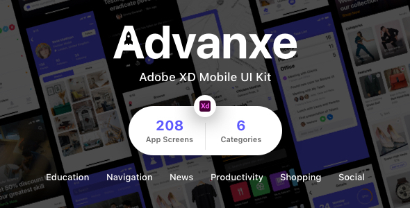 [Free Download] Advanxe – Adobe XD Mobile UI Kit (Nulled) [Latest Version]