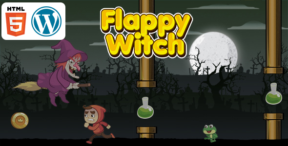[Free Download] Flappy Witch Game (HTML5) Endless Game (Nulled) [Latest Version]