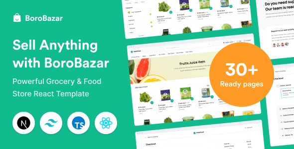 [Free Download] BoroBazar – Grocery & Food Store React Template (Nulled) [Latest Version]