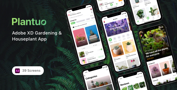 [Free Download] Plantuo – Adobe XD Gardening & Houseplant App (Nulled) [Latest Version]