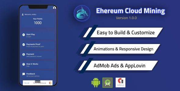 [Free Download] Ethereum Cloud Mining App with Admin Panel and Admob (Nulled) [Latest Version]
