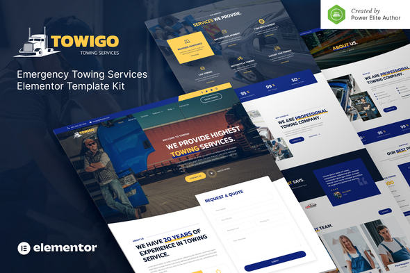 [Free Download] Towigo – Emergency Towing Services Elementor Template Kit (Nulled) [Latest Version]
