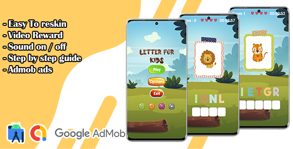 [Free Download] Letter For Kids – Learn Animals Names Game (Nulled) [Latest Version]