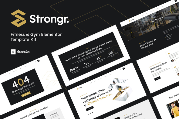 [Free Download] Strongr – Fitness & Gym Elementor Template Kit (Nulled) [Latest Version]