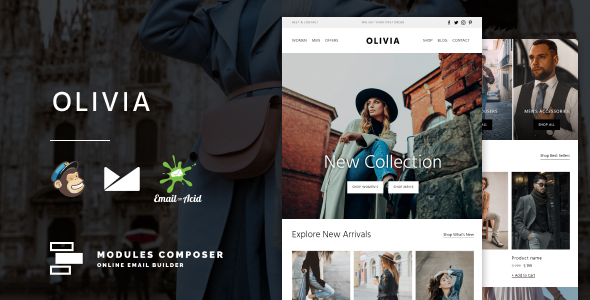 [Free Download] Olivia – E-commerce Responsive Email for Fashion & Accessories with Online Builder (Nulled) [Latest Version]