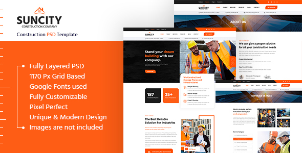 [Free Download] Suncity – Construction PSD Template (Nulled) [Latest Version]