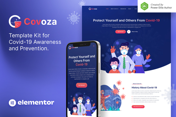 [Free Download] Covoza – Covid-19 Awareness & Prevention Elementor Template Kit (Nulled) [Latest Version]