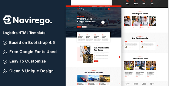 [Free Download] Navirego – Logistics HTML Template (Nulled) [Latest Version]