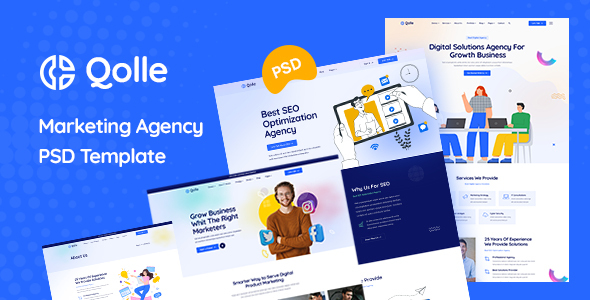 [Free Download] Qolle – Digital Marketing Agency PSD Template (Nulled) [Latest Version]