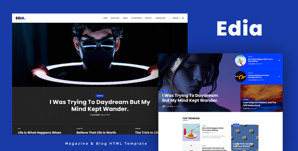 [Free Download] Edia – Blog and Magazine HTML Template (Nulled) [Latest Version]