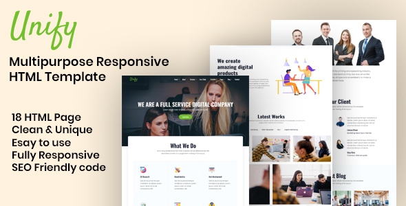 [Free Download] Unify – Multipurpose HTML Template (Nulled) [Latest Version]