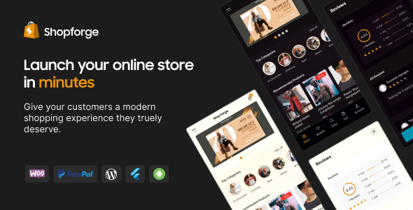 [Free Download] Shopforge – WooCommerce Mobile Apps (Android and iOS) (Nulled) [Latest Version]