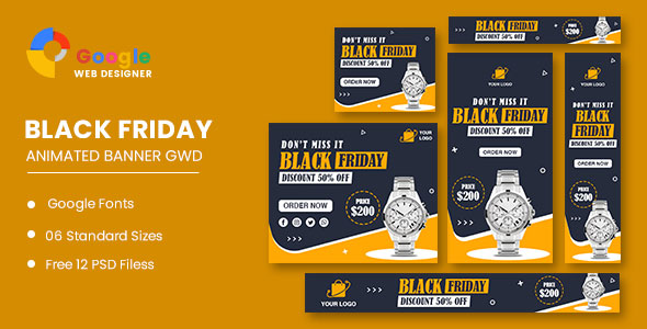 [Free Download] Watch Sale Black Friday HTML5 Banner Ads GWD (Nulled) [Latest Version]
