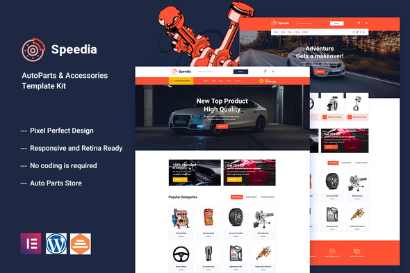 [Free Download] Speedia – AutoParts & Accessories Elementor Template Kit (Nulled) [Latest Version]