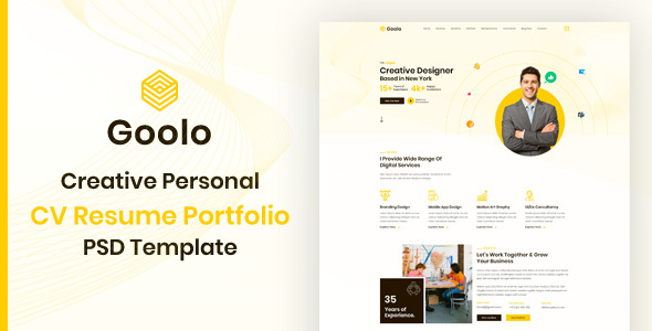 [Free Download] Goolo   Personal Portfolio PSD Template (Nulled) [Latest Version]