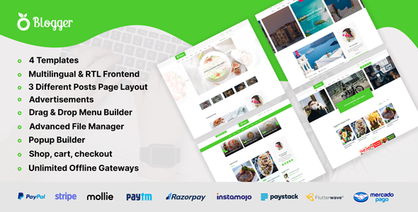 [Free Download] Blogger – Personal Blog Website CMS (Nulled) [Latest Version]