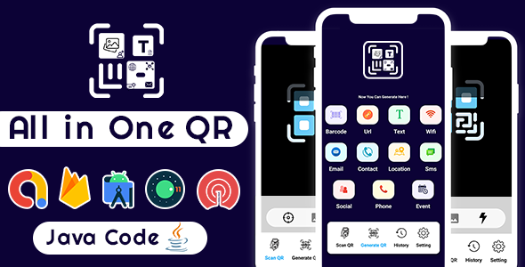 [Free Download] All in One QR Barcode Scanner & Generator +Admob+OneSignal Push Notification Android App (Nulled) [Latest Version]