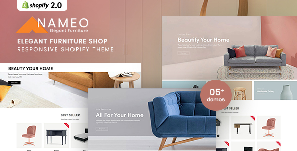 [Free Download] Nameo – Elegant Furniture Shop For Shopify (Nulled) [Latest Version]