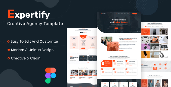 [Free Download] Expertify – Creative Agency Figma Template (Nulled) [Latest Version]