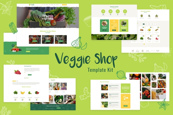 [Free Download] Veggie | Organic Food & Eco Online Store Products Template Kit (Nulled) [Latest Version]