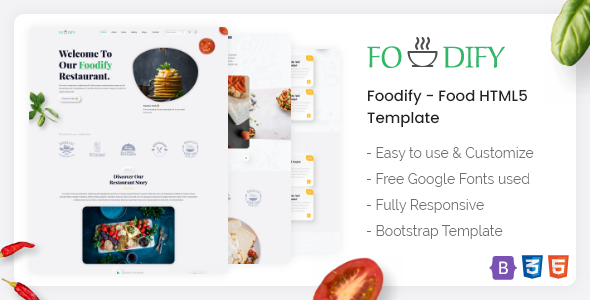 [Free Download] Foodify – Food HTML5 Template (Nulled) [Latest Version]