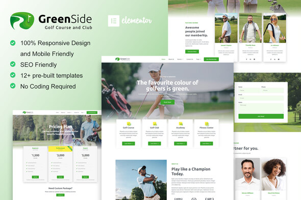 [Free Download] Greenside – Golf Club & Academy Elementor Template Kit (Nulled) [Latest Version]