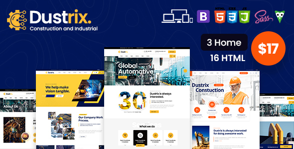 [Free Download] Dustrix – Construction & Industry HTML Template (Nulled) [Latest Version]