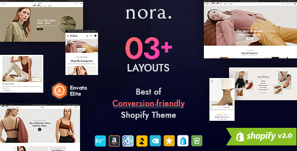 [Free Download] Nora – Boutique Shopify Multi-purpose Responsive Theme (Nulled) [Latest Version]