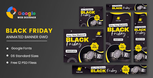 [Free Download] Black Friday Sale Watch HTML5 Banner Ads GWD (Nulled) [Latest Version]
