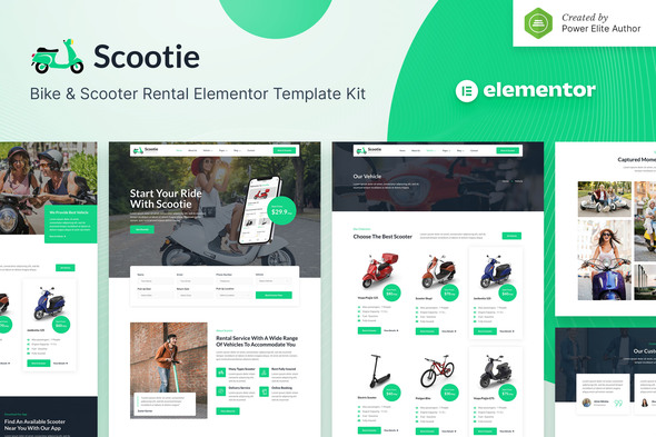 [Free Download] Scootie – Bike & Scooter Rental Elementor Template Kit (Nulled) [Latest Version]