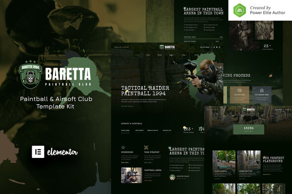 [Free Download] Baretta – Paintball & Airsoft Club Elementor Template Kit (Nulled) [Latest Version]